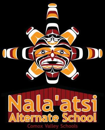 Nala'atsi logo 'Comox Valley Schools' black